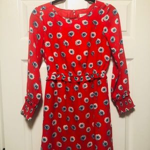Jcrew Printed long-sleeve fitted dress